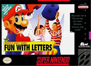 Mario's Early Years! Fun with Letters Game