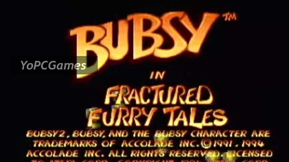 bubsy in fractured furry tales screenshot 1