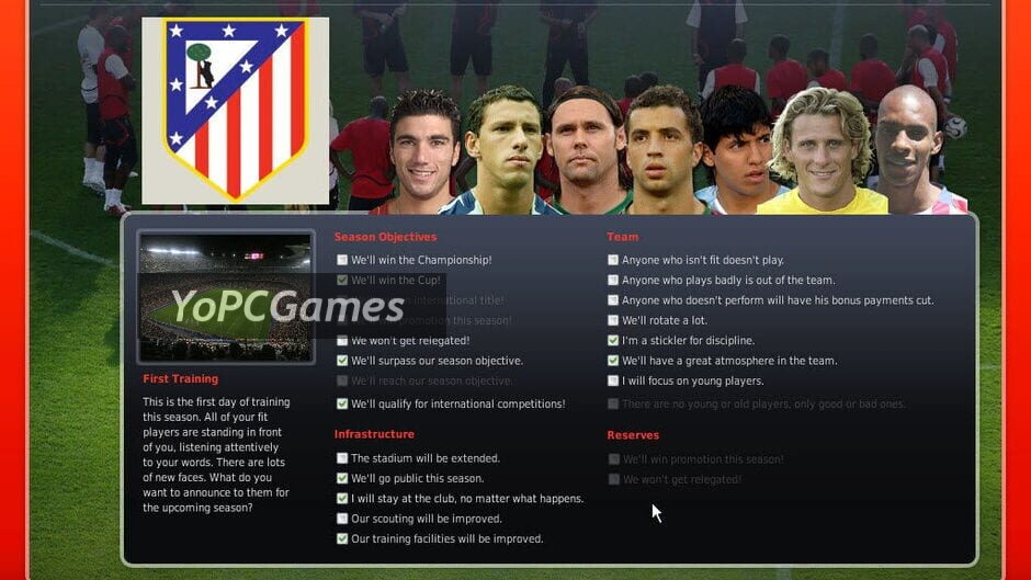 fifa manager 08 screenshot 3