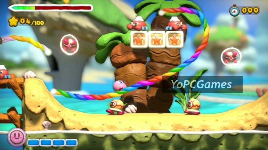 kirby and the rainbow curse screenshot 1
