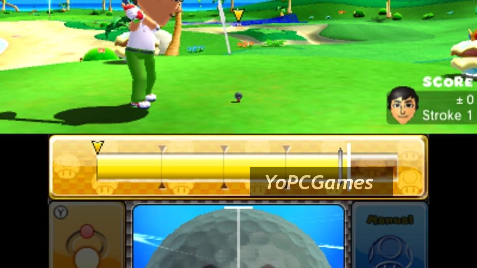 mario golf: world tour screenshot 1