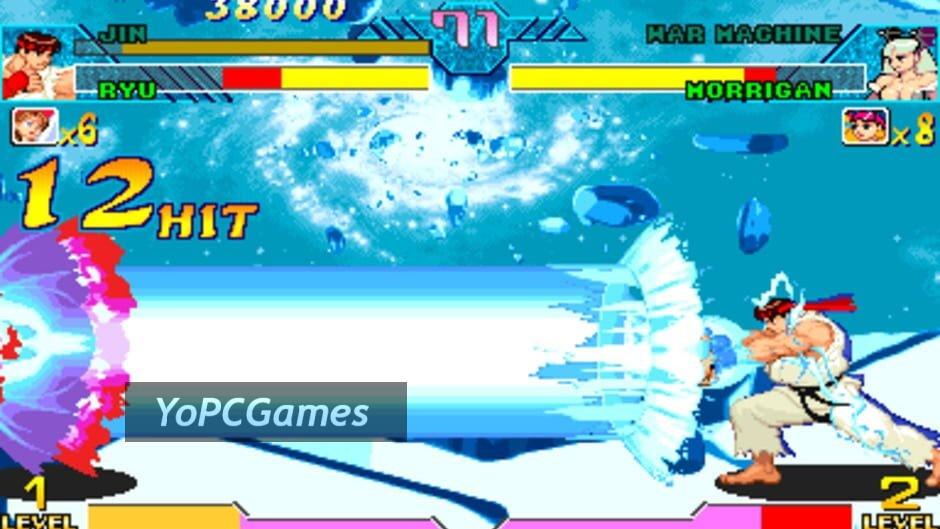 marvel vs. capcom: clash of super heroes screenshot 1