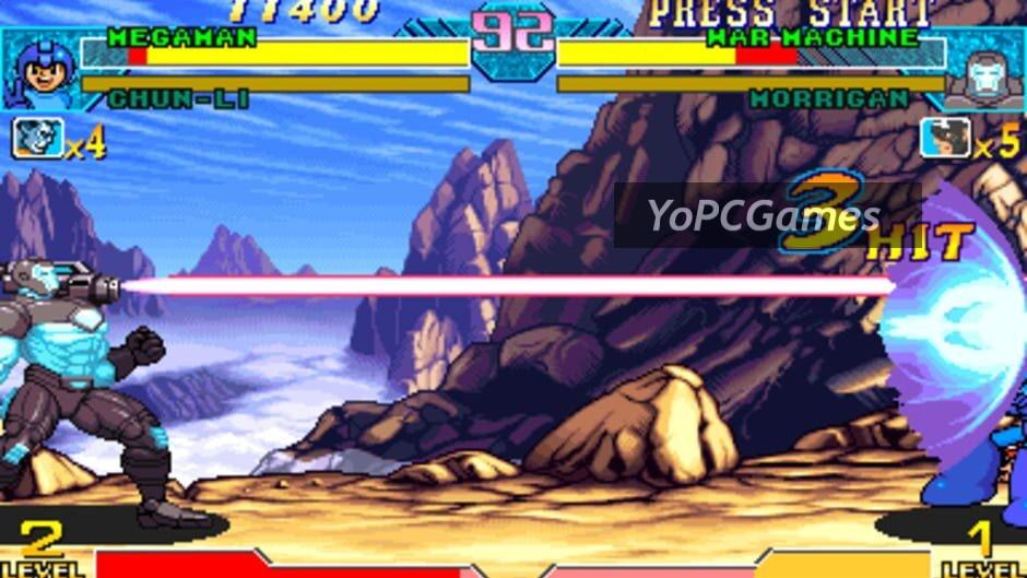 marvel vs. capcom: clash of super heroes screenshot 2