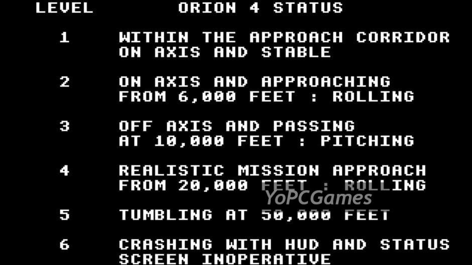 rendezvous: a space shuttle flight simulation screenshot 2