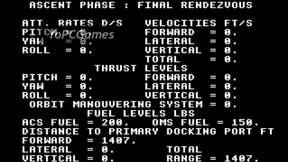 rendezvous: a space shuttle flight simulation screenshot 3