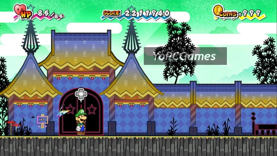 super paper mario screenshot 1