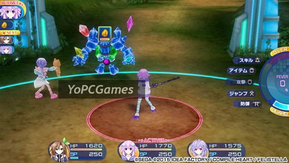 superdimension neptune vs sega hard girls screenshot 1