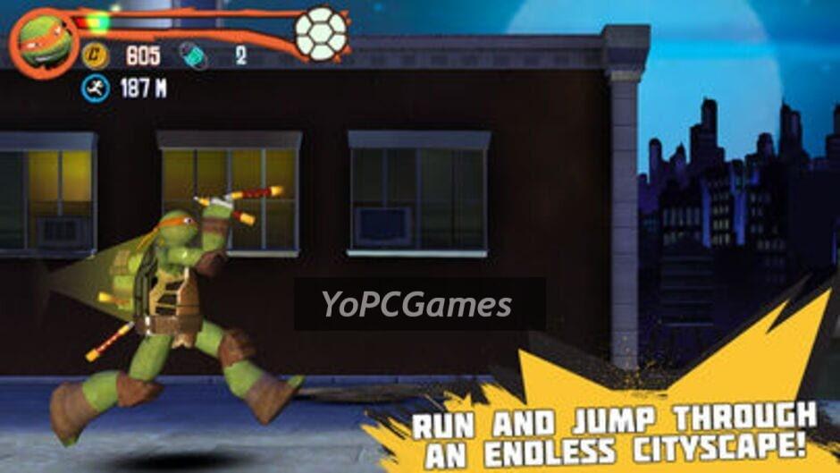 teenage mutant ninja turtles: rooftop run screenshot 1