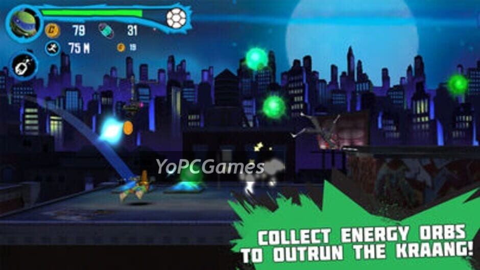 teenage mutant ninja turtles: rooftop run screenshot 2