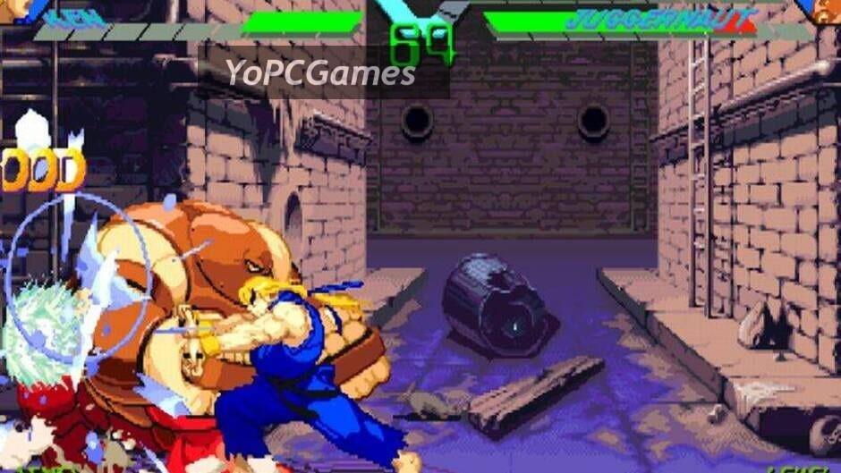 x-men vs. street fighter screenshot 1