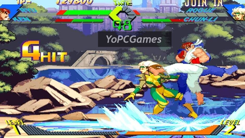 x-men vs. street fighter screenshot 3
